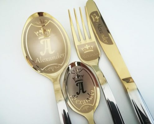 Cutlery set with name