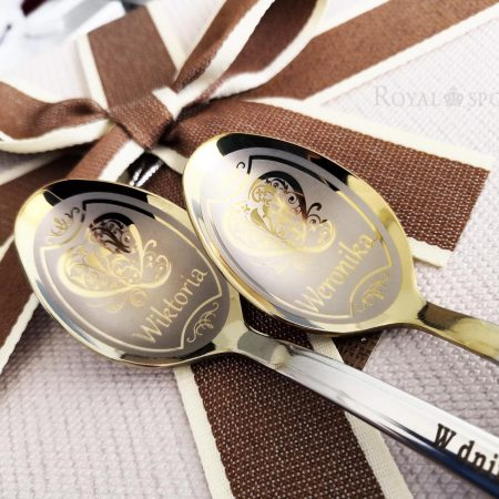 Unique teaspoons with hearts