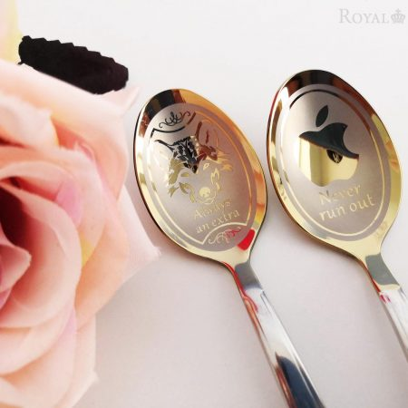 Unique teaspoons with images made for order