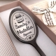Black Nutella Spoon with white engraving